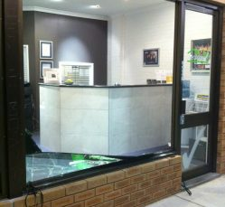 Perth emergency glass repair job - boardup service